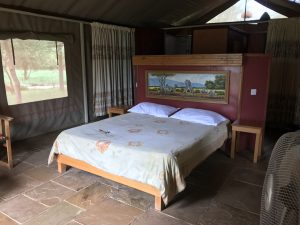 Blick ins Zelt der Sentrim Amboseli Lodge