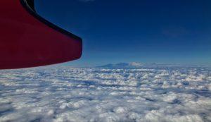 Kilimanjaro vom Flugzeug aus