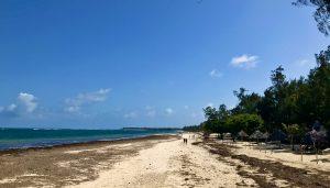 Silversand Beach vom Scorpio Villas Coco Beach aus